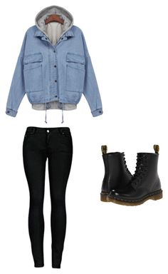 """Untitled #91"" by cassidyb16 ❤ liked on Polyvore featuring 2LUV and Dr. Martens"