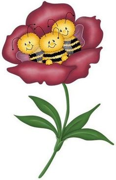 Three Bees in a Bloom...cute..