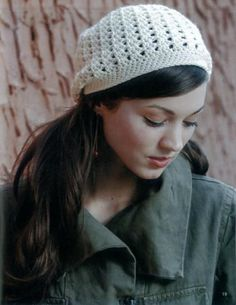 http://www.maggiescrochet.com/crochet-slouchy-beanies-p-2420.html#.UOc6IrZ5Ey4    10 projects for Beginner to Intermediate skills, using medium or bulky weight yarns. Stitch up in a weekend or less! You'll enjoy creating the exciting fashions with pretty shells, cables, ripples, and more. Patterns include adult sizes small/medium and large/extra-large, with sizing instructions for getting the perfect fit.
