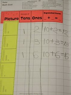 place value printables for math journals
