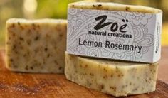 [LEMON ROSEMARY] // Handmade with natural luxury ingredients, our handcrafted soaps are all the talk  >> www.zoenaturalcreations.com #natural #products #beauty #skincare #pamper #skin #health #organic #naturalbeauty #naturalhealth #eco