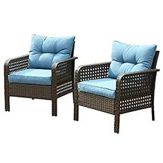 Wicker Patio Chairs Archives - Page 2 of 3 - patiofurnishing.com Wicker Furniture Cushions, Wicker Patio Chairs, Rattan Sofa, Seat Cushions, Outdoor Chairs, Outdoor Furniture, Outdoor Decor, Single Chair, Armchair