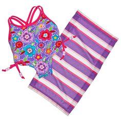 Purple Flower Swimsuit 2 pc. - Build-A-Bear Workshop US