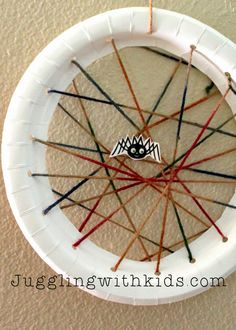 Juggling With Kids: Paper Plate Spider Web: Virtual Book Club for Kids: Eric Carle