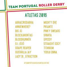 [PT] Rufar de tambores...e aqui estão as atletas da Team Portugal Roller Derby para a próxima época! #CANTBLOCKTHIS [EN] Drumroll...here are Team Portugal's Roller Derby athlete's for next s...