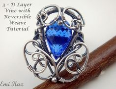 Emi Kaz's Wire Wrapped Jewelry Tutorial - Wire Weaving Ring - 3-D Layer Vine Ring with Reversible Weave