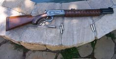 """"""" Harold Johnson Winchester 71 50 Alaskan A custom built lever action by renowned Alaskan gunsmith Harold Johnson, who invented the 50 Alaskan caliber. This is a Winchester Model 71 in which he added..."""