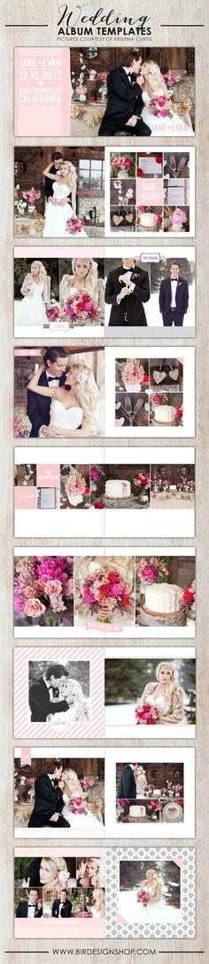 New Wedding Albums | Photoshop templates for photographers by Birdesign