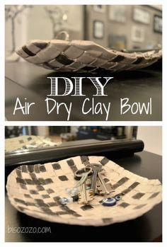 DIY Air Dry Clay Bowl Idea