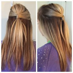 41 Trendy Hairstyles Formal Straight Half Up Hairstyles Haircuts, Trendy Hairstyles, Straight Hairstyles, Half Up Half Down Hair Prom, Wedding Hairstyles Half Up Half Down, Wedding Hair Half, Bridal Hair, Diy Wedding, Formal Hairstyles For Long Hair