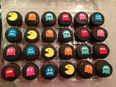 pacman cupcakes - Google Search                                                                                                                                                     More