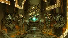 Metroid Fan Environment - Chozo Temple WIP - polycount