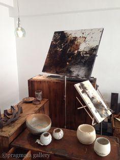 New display with the fabulous paintings by Matsuoka Gaku. Tokyo