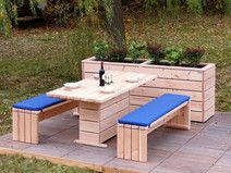 Gartenmöbel Set 2 Holz, Douglasie Natur