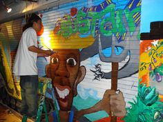 Precita Eyes mural project classes! Every Tuesday, or instant portable mural workshop    Also, volunteering!