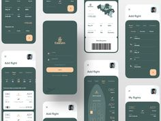 Boarding Pass App - Design - Web und App Design - Desings World Web And App Design, Design Websites, App Ui Design, User Interface Design, Best App Design, Wireframe Design, Dashboard Ui, Dashboard Design, Game Design