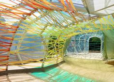 2015 Serpentine Gallery nears completion, revealing a colorful cocoon that filters light like stained glass | Inhabitat - Sustainable Design Innovation, Eco Architecture, Green Building