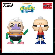 NickALive!: Funko Unveils NYCC 2020 Exclusive Mermaid Man and Barnacle Boy Pop! Figures
