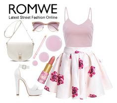 """""""Romwe rose print skirt"""" by queenlateen ❤ liked on Polyvore featuring moda, AX Paris, Forever New, Mulberry, River Island, Accessorize, tarte y AERIN"""