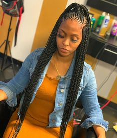 Long Box Braids: 67 Hairstyles To Upgrade Your Box Braids - Hairstyles Trends Box Braids Hairstyles, Braided Ponytail Hairstyles, Easy Hairstyles For Medium Hair, Braided Hairstyles For Black Women, Baddie Hairstyles, African Hairstyles, Hairstyles 2018, Black Women Hairstyles, Little Girl Braid Hairstyles
