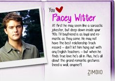 perfect <3  ..I took Zimbio's 90s TV boyfriend quiz and I got Pacey Witter! Who's your 90s love?