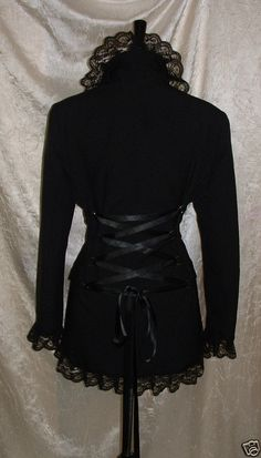long black coat riding jacket corset coat fantasy by darkestdreams, $52.00