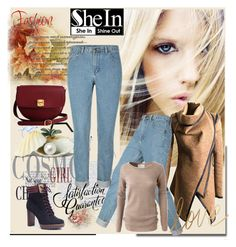 """Shein Denim Pants"" by lila2510 ❤ liked on Polyvore featuring moda, LE3NO y The Code"