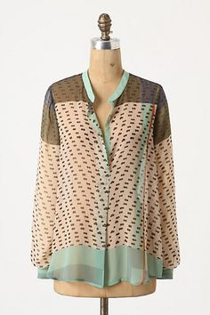 Dappled Sea Blouse - front--Konrad&Joseph--anthropologie.com