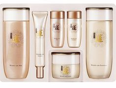 Lotus Blossom Therapy Natural Wrinkle Care 3 Items Set by Kwailnara. $110.00. It contains a skin toner (140 ml & 25 ml), emulsion (140 ml & 25 ml), cream (50 ml) essence (25 ml). You will also receive free samples of other products. It is a wrinkle-improving skin care product to give the unique elasticity and silky touch of Lotus Blossom only, through the medicine-transmitting technology of AANL (Adeno Active Nano Liposome) that capsulates the substances for wrinkles such as a...
