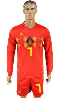 World Cup Belgium 2018 Jersey  7 Soccer Uniforms 96dcd9ba7