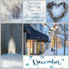 A song someone sings once upon a December. I Love Winter, Winter Snow, Winter Christmas, Holiday, Days And Months, Months In A Year, Les Illuminations, Collages, Christmas Collage
