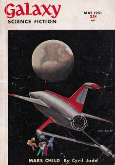 Galaxy Science Fiction (May 1951), cover by Chesley Bonestell