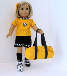American Girl Doll Soccer Time by SewSpecialByBarb on Etsy, $45.00