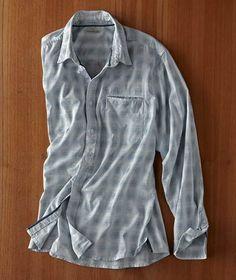 Effortlessly Cool Men's Shirts - Shortwave Shirt - Carbon2Cobalt