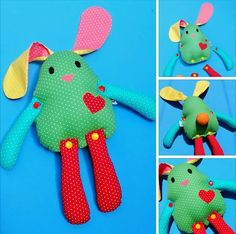 Coelho brincalhão desmontável Sewing Toys, Baby Sewing, Sewing Crafts, Fabric Crafts, Boo And Buddy, Baby Deco, Sock Dolls, How To Make Toys, Fabric Animals