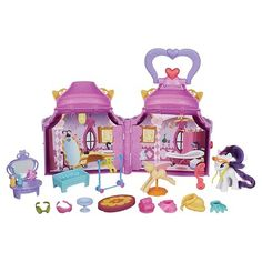 My Little Pony Cutie Mark Magic Rarity Booktique Playset (My uncle got this for isabell)