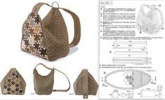 Sewing Tutorials, Sewing Patterns, Backpack Pattern, Fabric Bags, Shopper, Large Bags, Handmade Bags, Backpack Bags, Fashion Bags