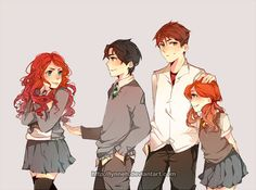 Rose, albus, james and lily