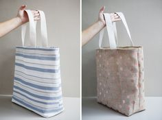 DIY | Beach Bag :: excellent, easy to follow photos-- one of the best tutorials i've seen on making a bag. :]