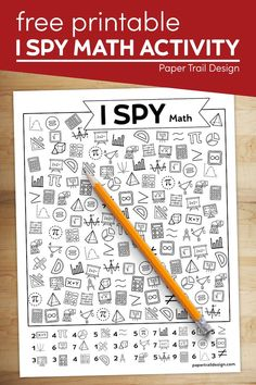 Fun I spy math activity page to print for free. A great activity for kids to do while stuck indoors that is fun and educational. Free Activities For Kids, Holiday Activities, Classroom Activities, Teacher Worksheets, Math Teacher, School Resources, Math Resources, Printable Crafts, Free Printables