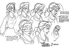 Belle animator's sketches