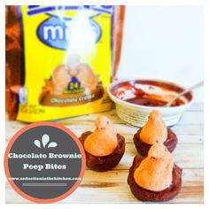 Chocolate Brownie Peep Bites | Seduction in the Kitchen