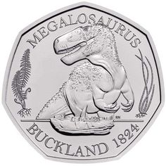 The Dinosauria Collection 2020 BU Colour is the first UK Brilliant Uncirculated coin offered in colour edition and has a limited edition presentation of Rare British Coins, Rare 50p, 50p Coin, Coin Prices, Old Money, Coin Collecting, Personalized Items, Mint Coins, Allotment