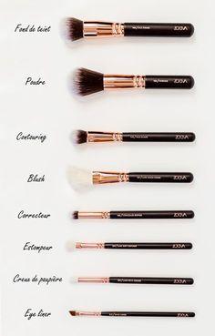 Make-up & Haar Ideen: www. Zoeva Brush Kit - Anais Cassis Himbeere - Make-up - Pinbay - Make-up & Haar Ideen: www. Makeup 101, Makeup Hacks, Makeup Tools, Skin Makeup, Makeup Inspo, Makeup Ideas, Contour Makeup, Mac Makeup, Prom Makeup