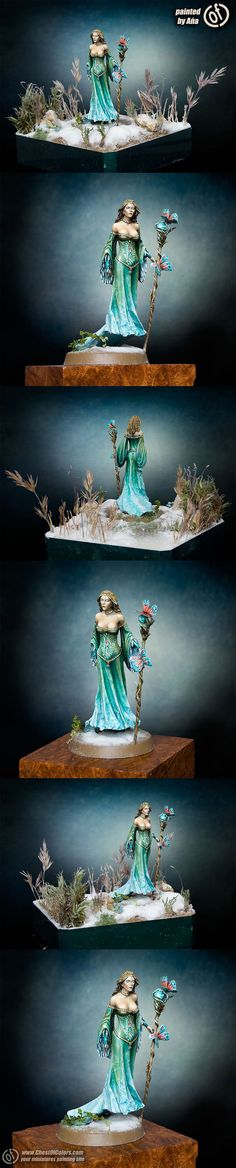 Visions in Fantasy - Limited Edition Female Sorceress - DSM7503 - Visions in Fantasy - Miniature Lines