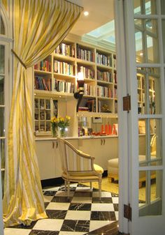 Library. Buena vista Deco - traditional - family room - san francisco - Jerry Jacobs Design, Inc.
