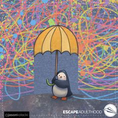 Shelter by Jason Kotecki. Penguin S, Tweety, Shelter, Cool Stuff, Awesome, Projects, Fun, Painting, Fictional Characters