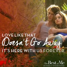 Based on a Nicholas Sparks novel, #TheBestofMe is a love story starring James Marsden and Michelle Monaghan. In theaters October 2014!