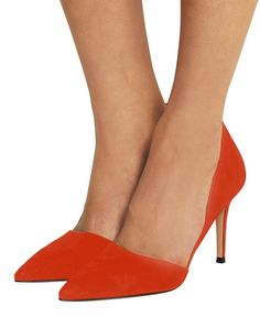Guoar Women's Stiletto Heel Big Size Court Shoes Pointed Toe D'Orsay&Two-Piece Suede Pumps for Wedding Party Dress: Amazon.co.uk: Shoes & Bags