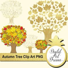 Fall Decor Vector Graphics Autumn Leaves by DigitalArtDreams